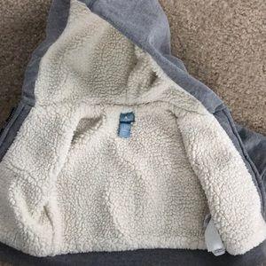 GAP Shirts & Tops - Baby Gap Grey Hoodie w/fleece Size 0-3 so perfect!